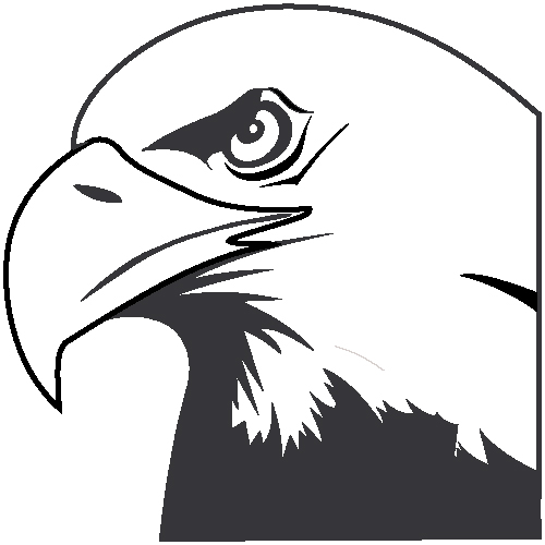 Eagle head logo black and white - photo#23
